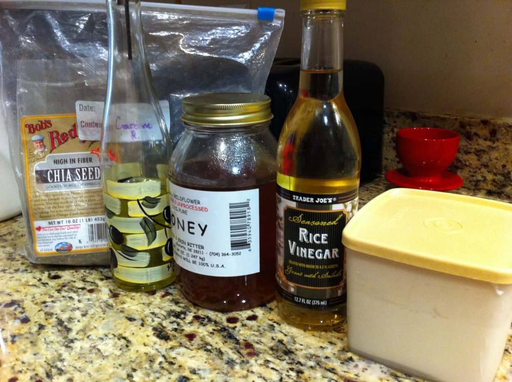 Chia Salad Dressing and more reasons to love Ch-ch-ch-Chia (and a nutrition update 12/1/12) (2/4)